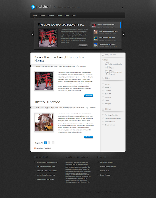 Polished Blogger Template