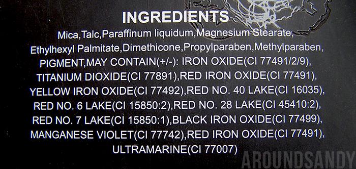 oh so special sleek palette ingredientes ingredients swatches