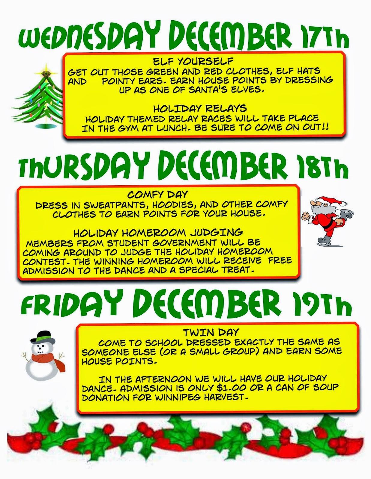 Holiday spirit dress up days images