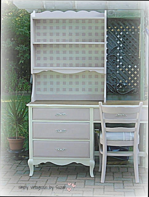 BEFORE & AFTER DESK - ASCP ANTOINETTE & OLD WHITE