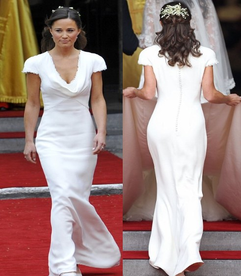 pippa middleton bridesmaid dress. Pippa Middleton also managed