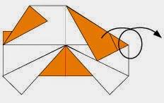 Bước 6: Lật mặt sau tờ giấy ra đằng trước.
