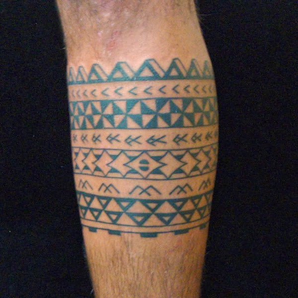 polynesian band tattoo
