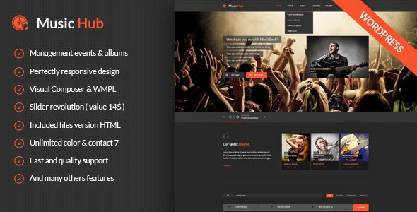 Premium Music Website Theme