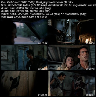 Evil Dead II (1987) BRRip 1080p Dual Audio 550MB