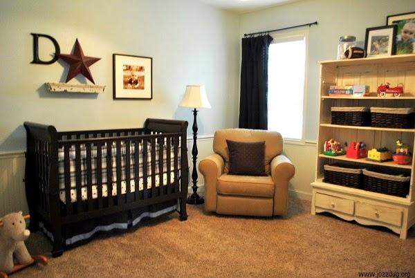 Photos déco chambre marron pour bébé garçon