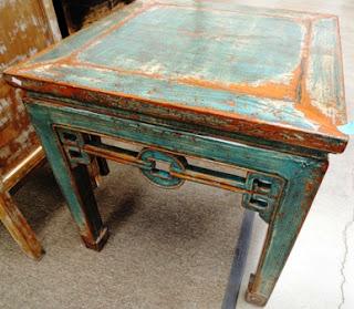 C.R. Laine, Bradington Young, furniture, blue table