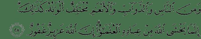Surat Al-Fathir Ayat 28