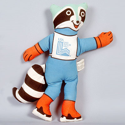 Roni mascot 1980 Winter Olympics in Lake Placid, New York