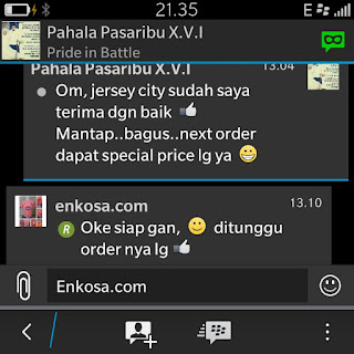 gambar photo screen shot testimoni enkosa sport oleh pahala pasar ibui