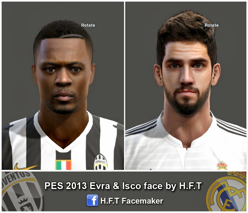 Ultigamerz Pes 2010 Pes 2011 Face: PES-MODIF: PES 2013 Evra & Isco Face By H.F.T