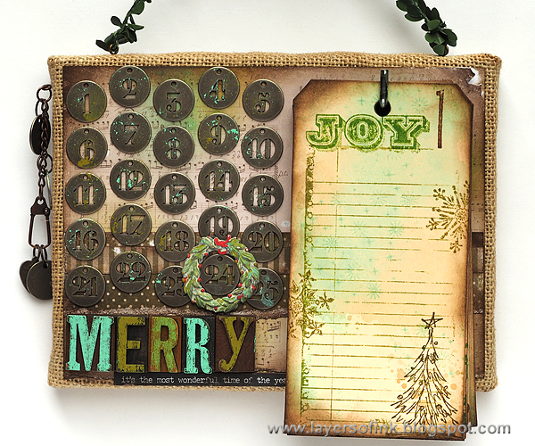 Layers of ink - Christmas Countdown Calendar Tutorial by Anna-Karin