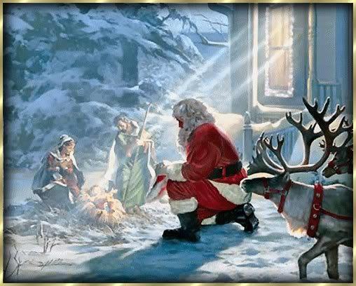 Christmas Santa Painting