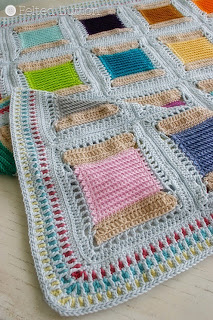 Spoolin' Around Blanket Crochet Pattern by Susan Carlson of Felted Button