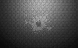 elegant greay Apple Mac logo