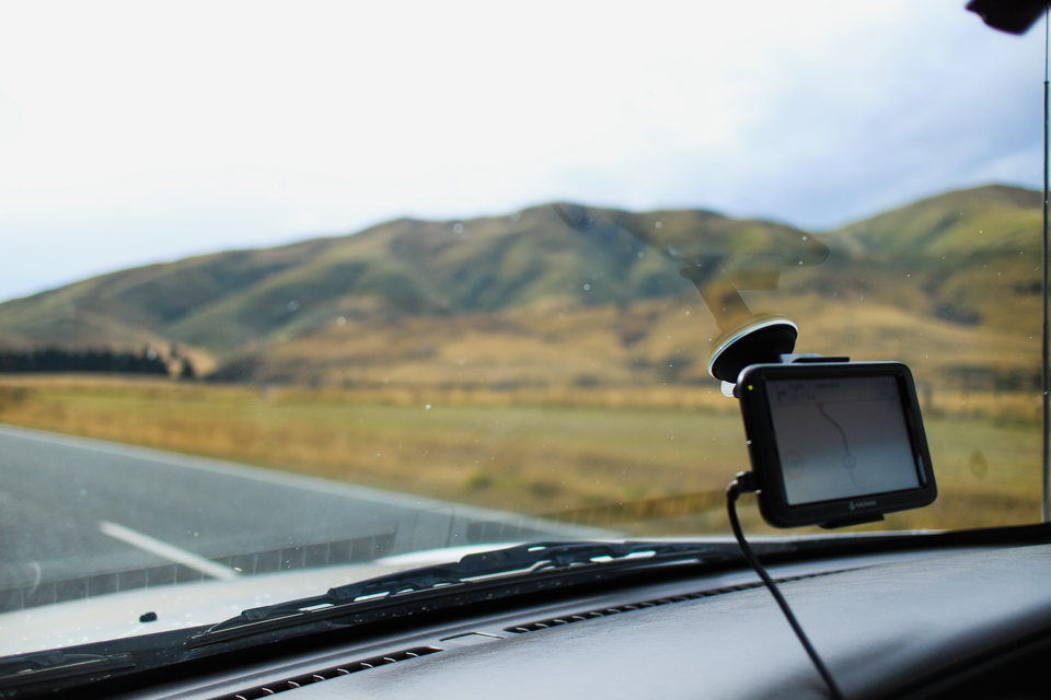renting a car with GPS in New Zealand