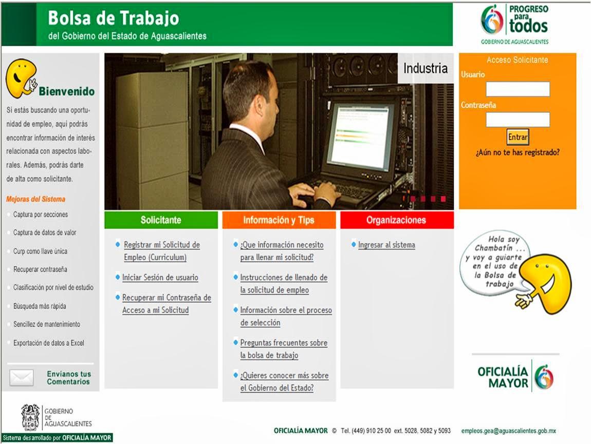 Bolsa de trabajo de gobierno del estado oficial a mayor for Bolsa de trabajo oficinas de gobierno