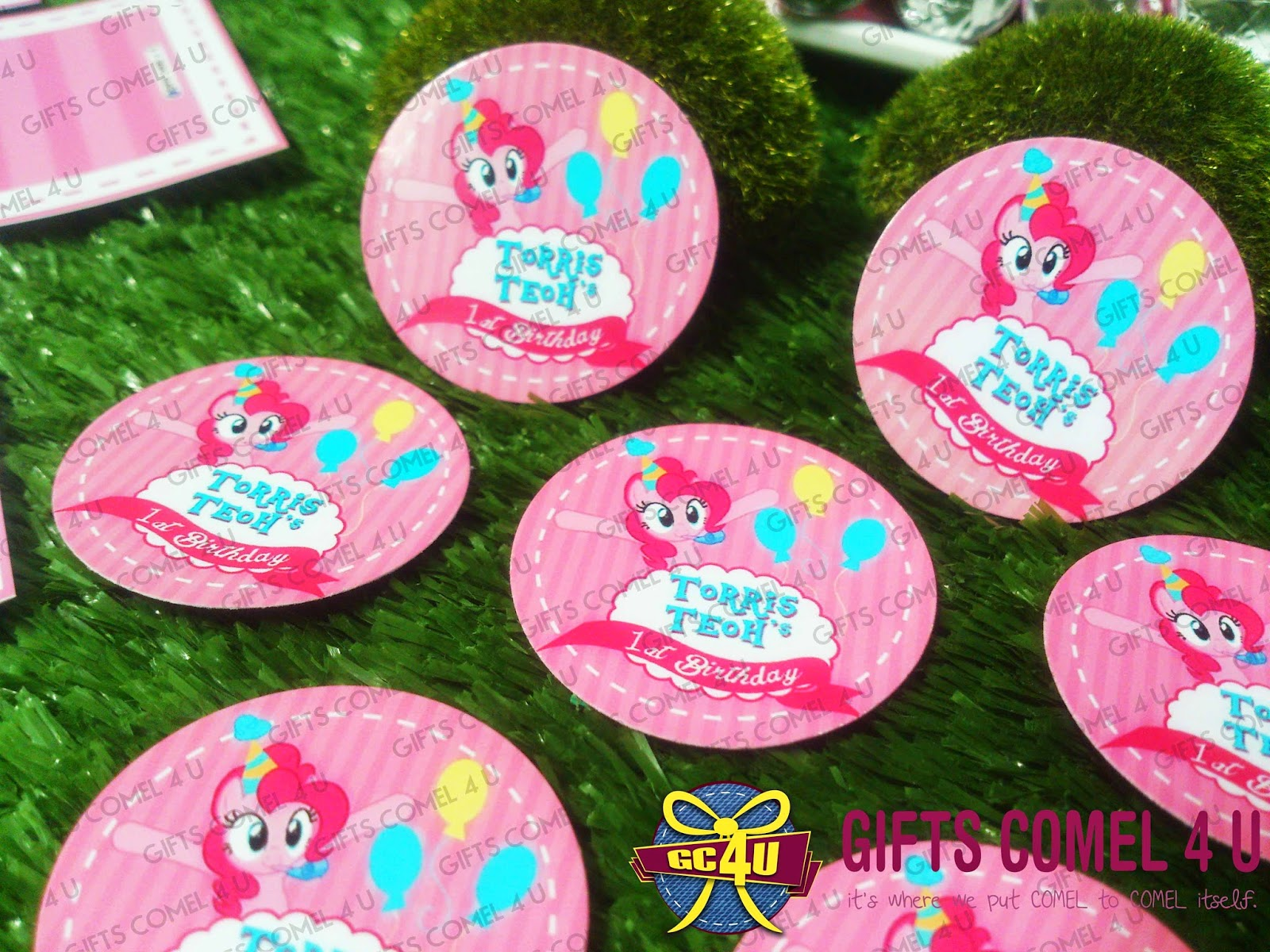 Gifts Comel 4 U Ordered By June Lim My Little Pony Pinkie Pie Luggage Tag Pink Theme Bottle Label With Personalized Wrapper