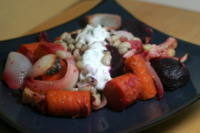 Bacony Beans and Roasted Vegetables 1