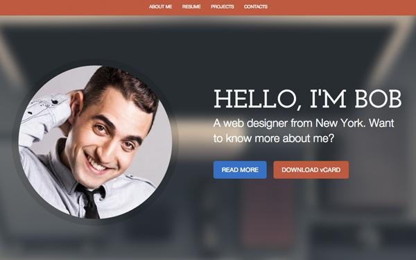resume template website - Resume Web Template