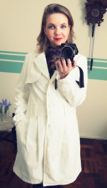 casaco trench coat veludo cotele