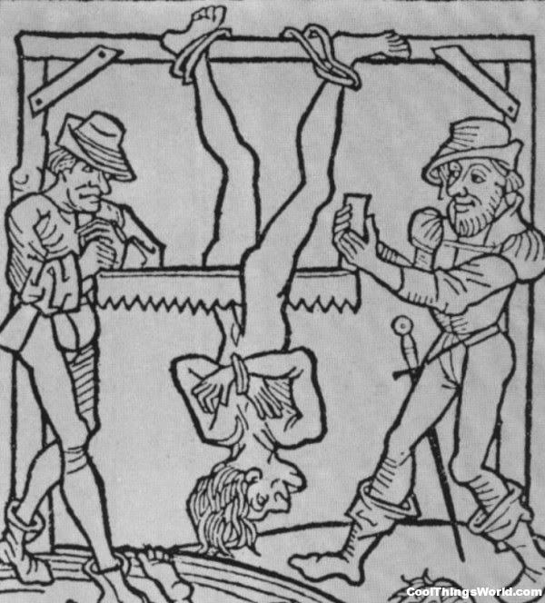 hukuman mati dengan cara digergaji
