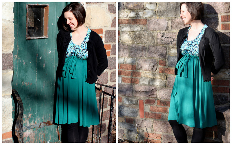Empire Waist Dress - Comfy Sews Vs. Cozy Knits - The Cottage Mama
