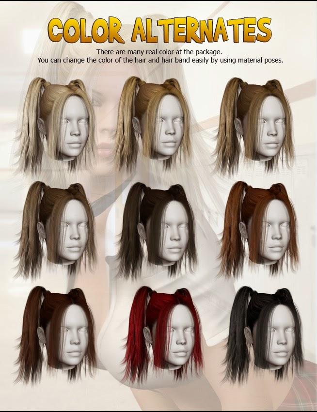 School Girl cheveux pour Genesis 2 Femme
