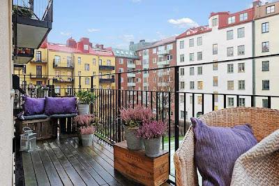 terraza apartamento sueco