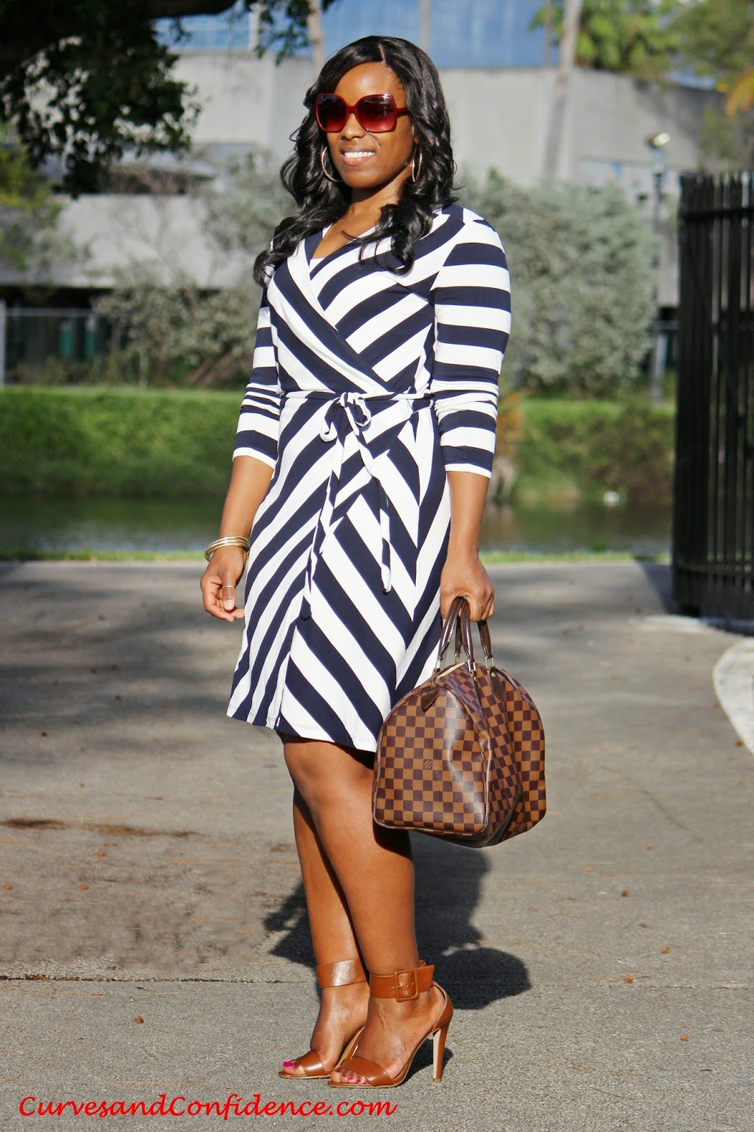 images 18 Outfits With Striped Wrap Dresses For Fashionable Ladies