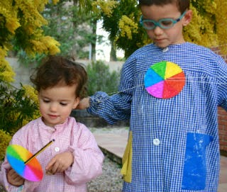 manualitat infantil fem un disc de newton a casa