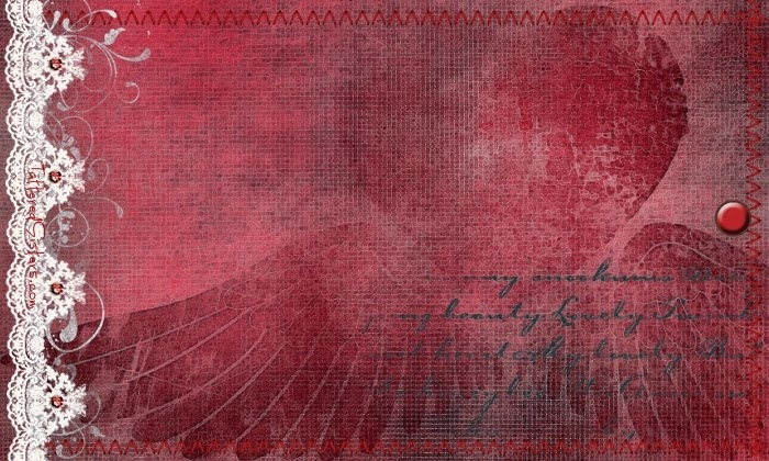 Winged Heart Primitive Hangtag