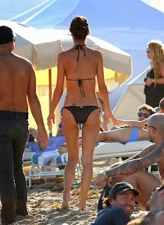 English: Alessandra Ambrosio Black Bikini Tattoo Miami Florida USA