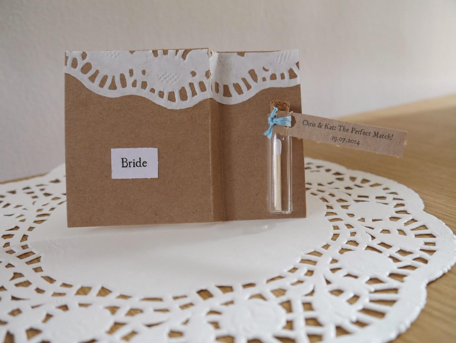 rustic wedding place card