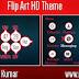 Flip Art Live HD Theme For Nokia c3-00,x2-01,asha200,201,205,210,302 320*240 Devices.