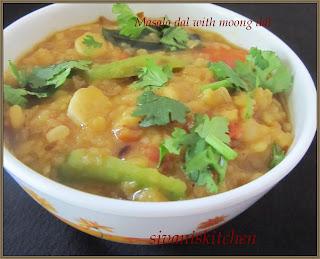 Masala dal with Moong dal