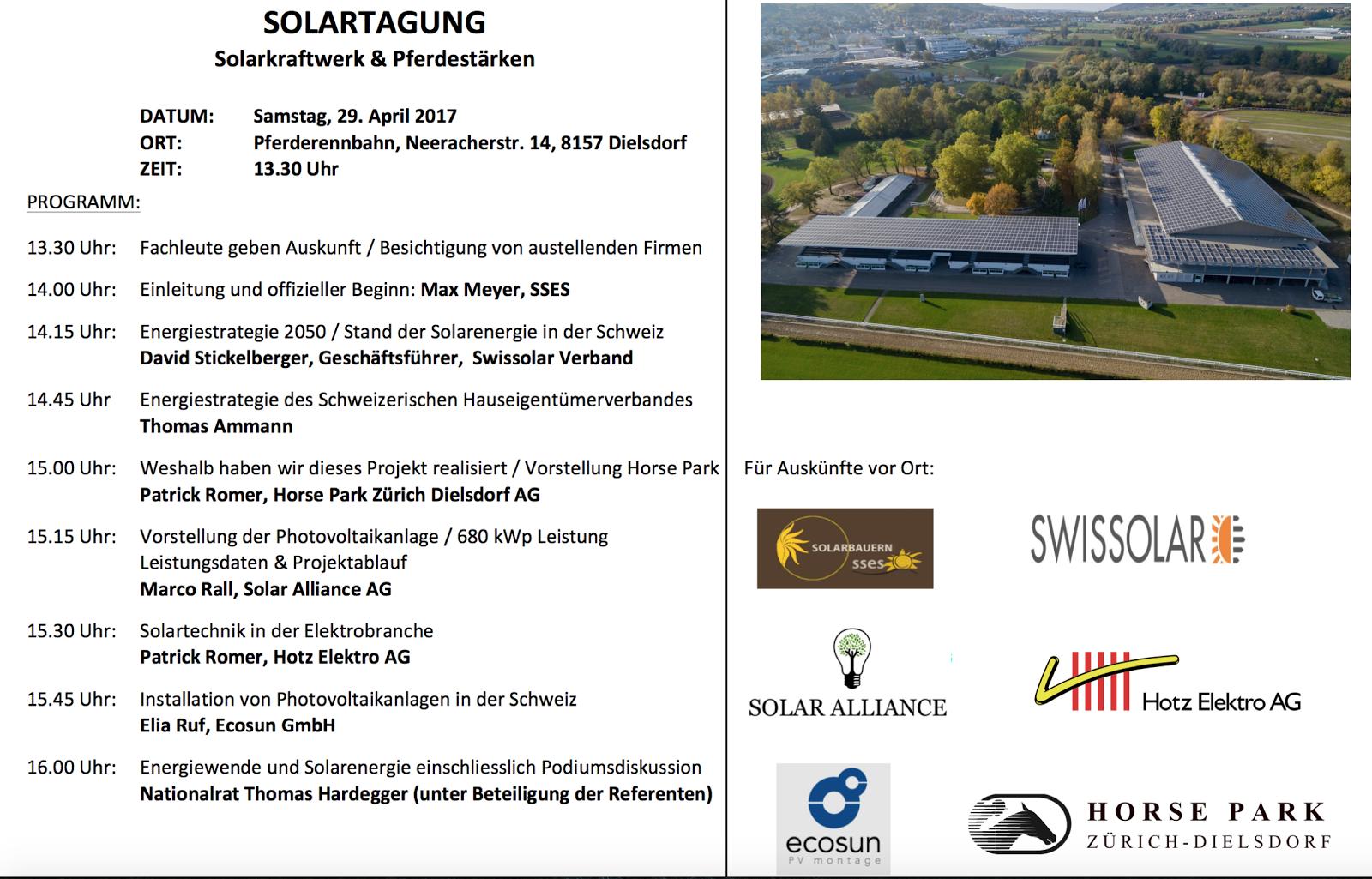 Solartagung 29.4.  Dielsdorf