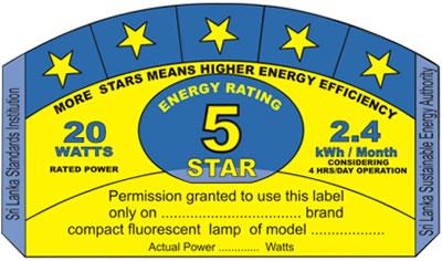 Star Rating of CFL in Sri Lanka | EnergyzEE