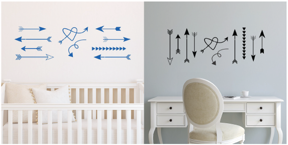 A Whimsical Arrow Wall Decal From WallQuotes Makes Big Impact But Is Still Affordable And Easy To Apply