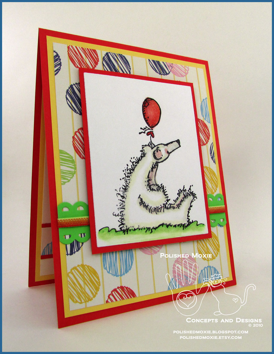 Whimsical handmade polar bear birthday card thankful birds picture of the front of my handmade polar bear birthday card at a right angle bookmarktalkfo Images