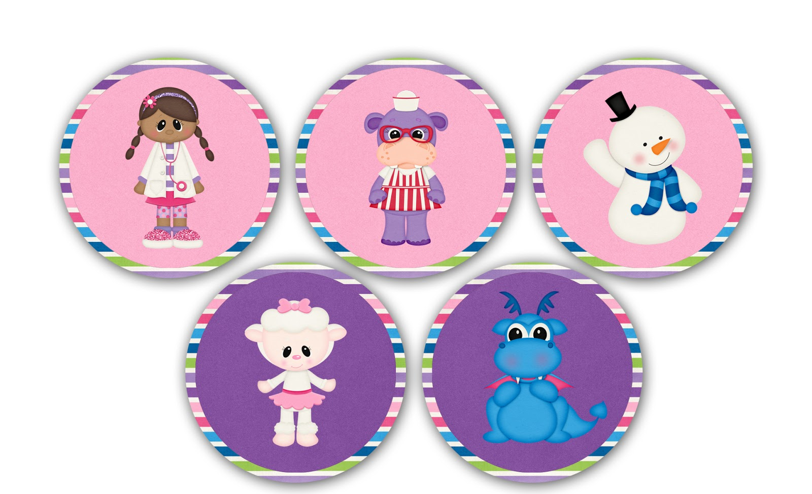 Designs Blog: Doc McStuffins Cupcake Toppers - Free Printable