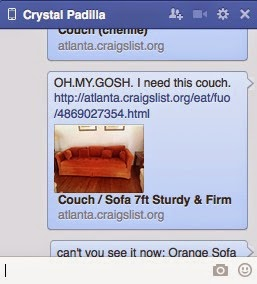 The Vintage Orange Sofa Story!