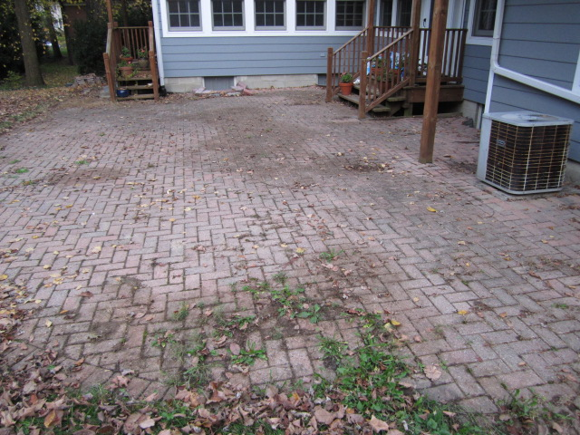 I Came Across This Brick Paver Patio In Immediate Need Of Repair And  Restoration This Month. To The Homeowneru0027s Admission, No Maintenance Or  Joint Sweeping ...