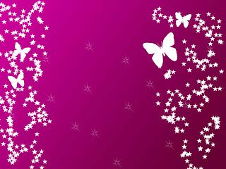 Pink Butterflies Stars HD Wallpaper