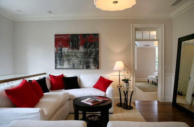 Red White and Black Living Room