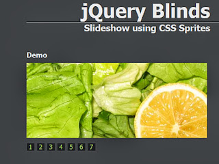 jQuery Blinds : Slideshow plugin using CSS Sprites