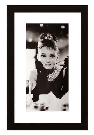Audrey Hepburn Framed Art   Limited Time Only
