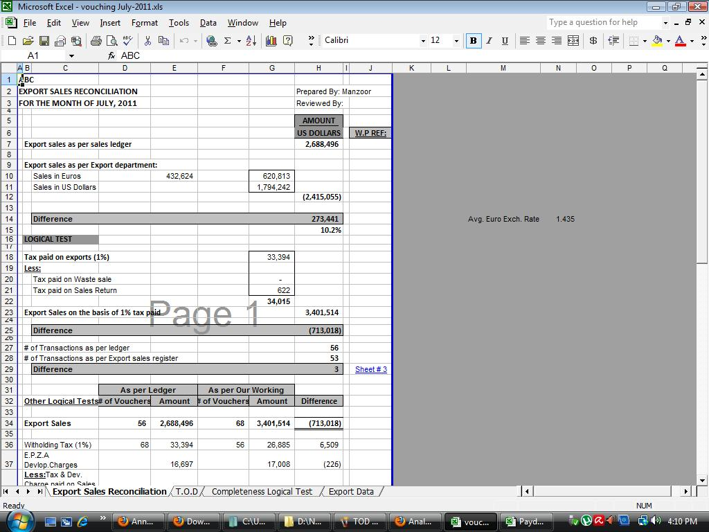 Internal audit working papers download free software for Audit workpaper template