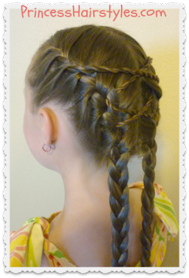 Criss Cross French Braids Hair Style Tutorial