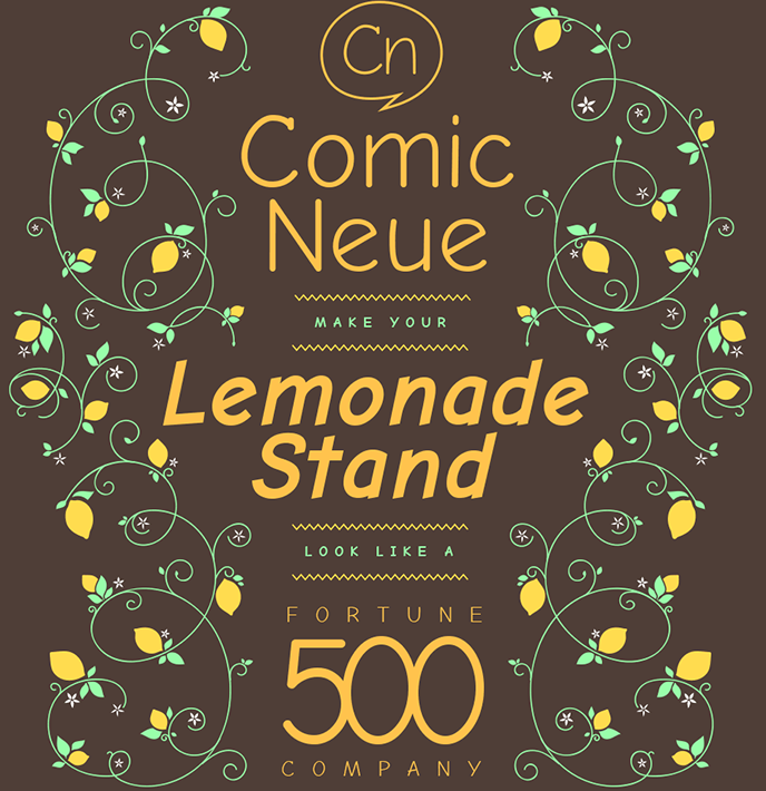 comic neue, a new version of comic sans